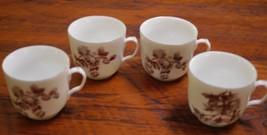 Set 4 Vintage Haviland Limoges Old Blackberry Floral Porcelain Rose Tea Cups - $100.00