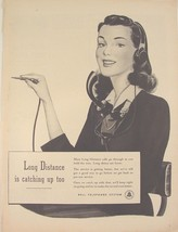 1946 Bell Telephone ~ Long Distance is catching up too Ad ~Telephone  OPERATOR - $9.99