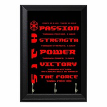 Sith Code Geeky Wall Plaque Key Holder Hanger - $16.50+