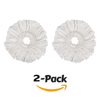 Lot of 2 Replacement Microfiber Mop Head Refill For Magic Mop 360° Spin Mophead - $5.95