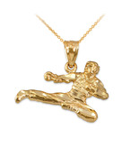 10K Yellow Gold Karate Kick DC Charm Necklace - $89.99+