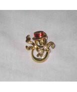 "Cute 1 1/4"" Christmas SNOWMAN Tie Tac Pin Open Body #5 - $9.74"