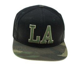 AMERICAN NEEDLE Los Angeles Mens LA Black Camo Wool Cap Hat Adjustable S... - $12.19