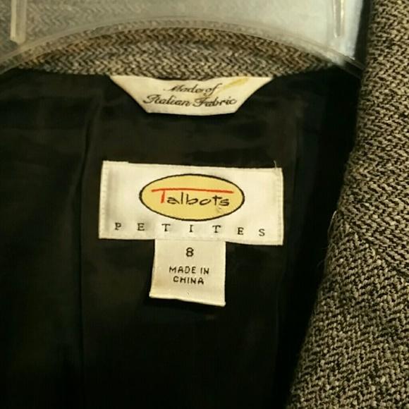 Talbots Petites Gray Blazer Size 8P image 4
