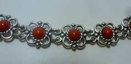 Q.T. Sterling Coral  CORO Flower Link Bracelet - $21.54