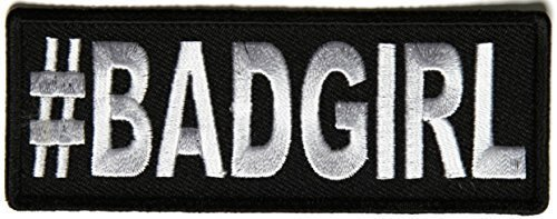 Hashtag Bad Girl Patch - 4x1.5 inch