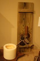 Primitive 24 in Weathered Wood Shutter Shelf By Unique Primtiques Custom... - $20.00
