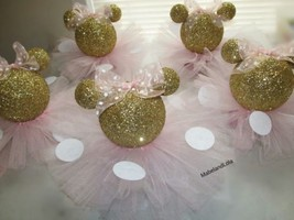 Gold Glitter Minnie Mouse Set 5 Centerpieces 1s... - $60.78