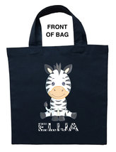 Zebra Trick or Treat Bag, Zebra Halloween Bag, Zebra Loot Bag, Zebra Can... - $11.99+