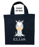 Zebra Trick or Treat Bag, Zebra Halloween Bag, Zebra Loot Bag, Zebra Can... - $11.39+