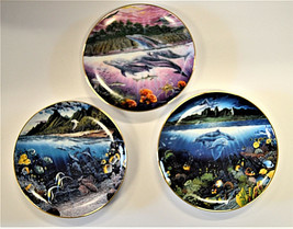 Robert Lyn Nelson Underwater Paradise Danbury Mint Set with Boxes Lot of 3 - $27.51