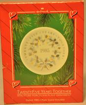 Hallmark - Twenty Five Years Together - Porcelain Plate - 1985 - Ornament - $7.74