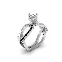 Excellent Round Cut 0.80ct DEF White Moissanite Infinity Promise Ring For Womens - $899.99