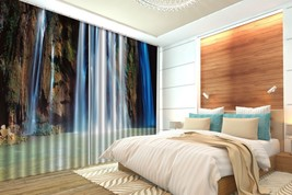3D Hill Stone Lake 301 Blockout Photo Curtain Print Curtains Drapes US L... - $177.64+
