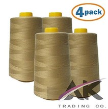 AK Trading 4-Pack Camel All Purpose Sewing Thread Cones 6000 Yards Each ... - $19.57