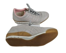 Onitsuka Tiger Women's US 9.5 EUR 41.5 Gray Leather Casual Walking Shoes - $25.25
