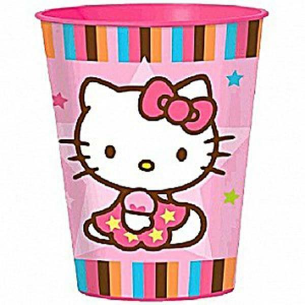 Primary image for Hello Kitty Balloon Dreams Stadium Keepsake 16oz Plastic Cup Party Supplies 1 Ct