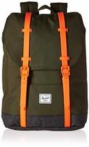 Herschel Kids' Retreat Youth Children's Backpack, Forest Night/Black Crosshatch/