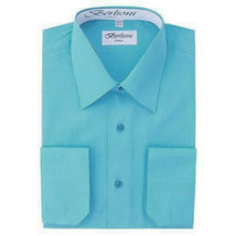 Berlioni Italy  Kids Boys Long Sleeve Turquoise Button Up Dress Shirt Size 4
