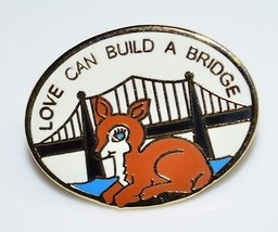 Benevolent and Protective Order of Elks DOE LOVE CAN BUILD A BRIDGE Enam... - $9.90
