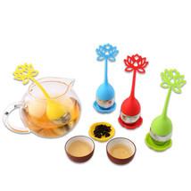 1x Lotus Shape Silicone Stainless Steel Tea Ball Strainers Creative Tea ... - £1.64 GBP