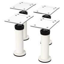 """IKEA CAPITA Leg, 4 3/8""""-4 3/4"""", Steel, White, Powder Coated, 4 pack, 302.635.75  - $24.74"""