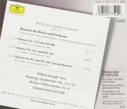 Mozart: Piano Concertos no 8, 23 & 24 / Wilhelm Kempff Cd image 2