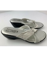 Tuscany Easy Street Women's Sandal Shoes Size 11 M White Silver - $19.79