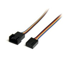 StarTech Cable FAN4EXT12 12inch 4 Pin Fan Power Extension Cable Male/Female Reta - $24.03
