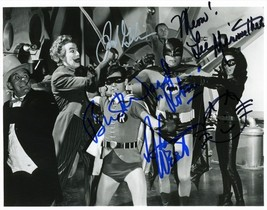 Adam West Burt Ward Lee Meriwether Signed Poster Photo 8X10 Rp Autographed - $19.99