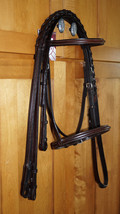 Bobby's WB Sz DARK BROWN Square Raised Bridle w/Matching Laced Reins - $120.00