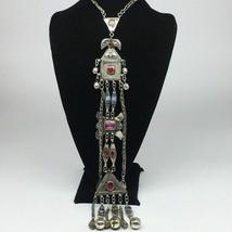 "136.8g, 23"" Turkmen Necklace Pendant Long Necktie Old Vintage Gold-Gilded,TN398 - $79.20"