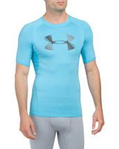 UNDER ARMOUR Men's T Shirt Medium Meridian Blue Compression UA Athletic ... - $23.01