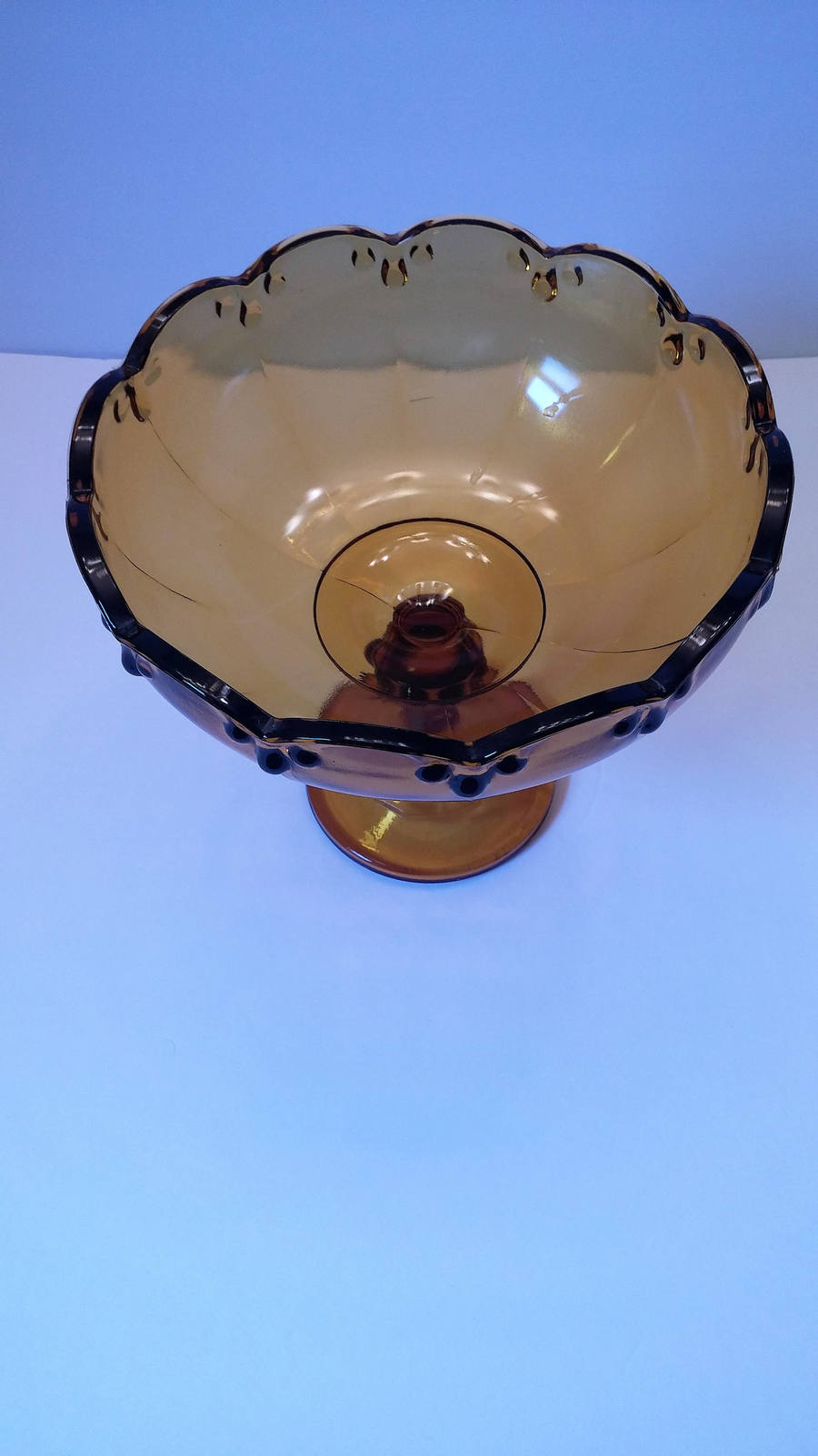 Indiana Glass Garland (no fruit) Amber Compote