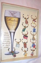 Birdhouse Wine Markers NEW Set 12 SEALED Charms Boston Warehouse Birders... - $25.28 CAD