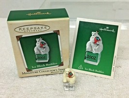 2002 Ice Block Buddies #3  Mini Hallmark Christmas Tree Ornament MIB Pri... - $9.41