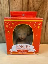 "Fibre Craft Angel Doll Head n Hands set Short Blonde hair 3"" Blue eyes 3137-01 - $18.69"