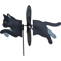 "Black Cat 19"" Whirligig Petite Staked Wind Spinner PR 25177 - $18.59"