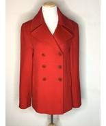 Fleurette Loro Piana 100% Lambswool Peacoat Coat Jacket Luxury Designer ... - $199.00
