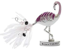 Gnz Zinc Flamingle Flamingo Inspirational Standing Figurine - Be True to... - £6.15 GBP
