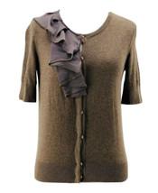 Ann Taylor Loft Petites Women's Brown Button Down Cardigan Sweater Size XSP - $15.84