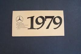 1979  mercedes 450sl 280ce  owners price card sales brochure w107 w123 o... - $31.67
