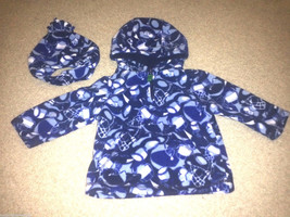 Boys Sz 12 months Childrens Place fleece everyday jacket winter coat hoo... - $8.89