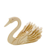 Swan 3D Wooden Puzzle DIY Build It Yourself 3 Dimensional Wood Craft Pro... - $6.99