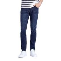 CAMEL Mens Long Jeans Straight Fit Stretch Demin Pants,Blue,29 - $27.23