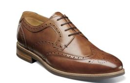 Florsheim Uptown Wingtip Oxford Dress Shoes Modern Cognac 15170-221 - $110.00