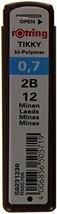 rOtring Tikky Mechanical Pencil Lead 0.7mm, 2B, 12 Lead (R505 706 2B) - $8.50