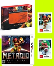 NEW Nintendo 3DS LL Console METROID Samus + amiibo + Normal game soft Japan - $327.99
