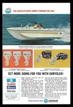 Chrysler BOAT Hydro-Vee Runabout Boats Outboard Motors 1967 Marine Boating AD - $9.99
