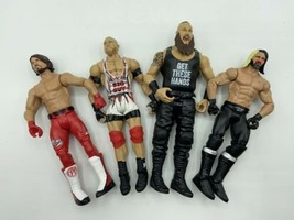 WWE Action Figure Lot Mattel 4 Figurines - 2012-2017 AJ Styles, Ryback, ... - $29.99